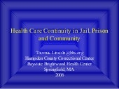 Health Care Continuity in Jail, Pri...