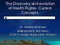 Health Rights- Discovery and evolution