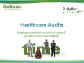 Healthcare audits: Helping organiza...