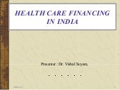 Health care finance in india