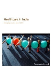 Healthcare in india   pwc report