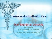 Health care intro. blansang.revised