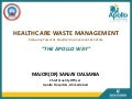 Healthcare waste management dr. sanjay dalsania  hospitech india_03 march 2013