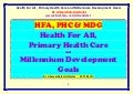 Health for all- primary health care- millennium development  goals