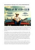 Health Gamification, Dallas Buyers Club, Invictus and Wolf of Wall Street