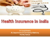 Health insurance in India- Dr Suraj...