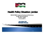 Health Policy Situation in  Jordan ...