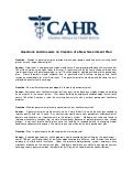 CAHR - Q&A on Government Plan