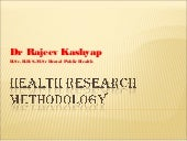 Health research methodology