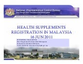 Health Supplements Registration in Malaysia