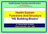 Health system functions  and struct...