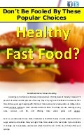 Healthy Fast Food?