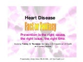 Heart disease fact or fantasy   c2 your health llc - cindy cohen rn