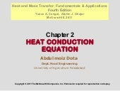 Chapter 2HEAT CONDUCTION EQUATION