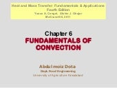 Chapter 6FUNDAMENTALS OF CONVECTION