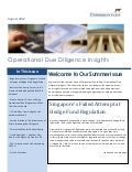 Operational Due Diligence Insights - Corgentum Consulting's Newsletter