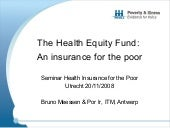 The Health Equity Fund an Insurance...