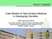 Case studies of open access initiat...