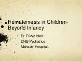 Hematemesis in children-Beyond Infancy