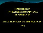 Hemorragia cerebral  2014