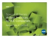 MaRS Best Practices: IP Best Practi...