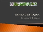 Herbal Medicine endorsed by DOH