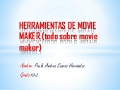 Herramientas de movie maker