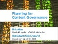 Planning for Content Governance