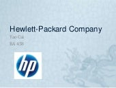 Hewlett packard company if