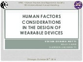 Human Factors Considerations in the Design of Wearable Devices
