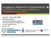 Engaging e-Patients in a Digital World