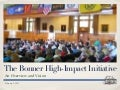The Bonner High-Impact Initiative