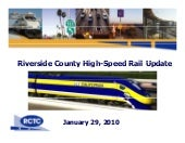 High Speed Rail - Riverside County