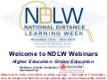 Higher Ed: Global Education - National Distance Learning Week 2007