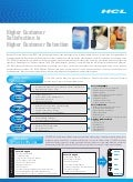 HCLT Brochure: Higher Customer Satisfaction is Higher Customer Retention