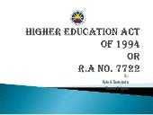Higher education act of 1994