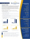 High Liner Investor Fact Sheet Q309