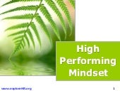 High performing mindset