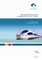 High speed rail for australia