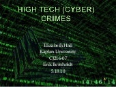 High Tech (Cyber) Crimes