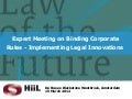 Expert Meeting on Binding Corporate Rules | Presentations