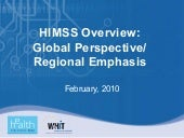Himss Overview, Madrid Cio Meeting
