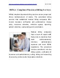 HIPAA Compliant Physicians Medical Billing Service