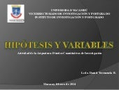 Hipotesis y variables
