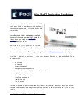 iPad 2 Application Development