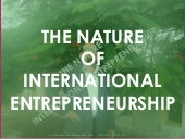 International Entreprenuership