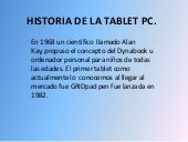 Historia de la tablet pc