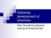 Historical development of grammar