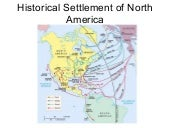 Historical settlement of north america
