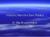 History of Rancho San Pedro